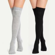 2 Pairs Of Sock Plain Over The Knee Socks