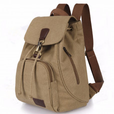 Women Men Canvas Travel Satchel Shoulder Bag Anti-theft Backpack School Rucksack Drawstring