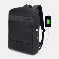 Men Multifunctional Large Capacity Backpack Computer Bag With USB Charging Port