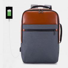 Waterproof Large Capacity Backpack Travel Bag Business Bag With USB Charging Port For Men