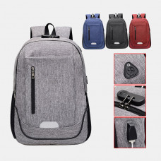 Fashion Large Capacity Waterproof Backpack Travel Bag School Bag With USB Charging Port