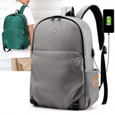 Men Light Weight Waterproof Backpack With USB Charging Port For Outdoor Travel