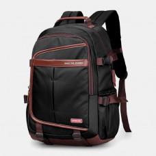 Men Large Capacity Waterproof Backpack Computer Bag Casual Bag