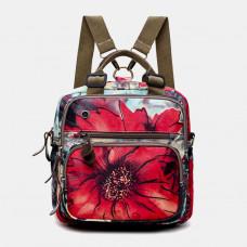 Waterproof Nylon Backpack Large Capacity Shoulder Bag For Women