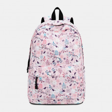 Women Print Waterproof Casual Backpack School Bag