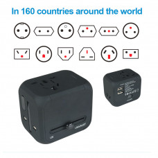 Us / Au / Uk / Eu Adapter International Travel Electric Plug Dual