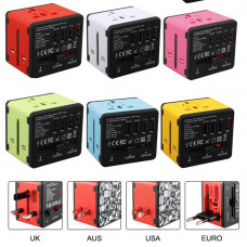 International Travel  Adapter 4 Usb Port Universal        Adapter