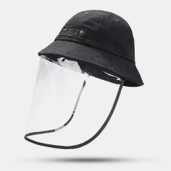 Collrown Adjustable Sun Hat With Large Eaves Anti-fog Removable Bucket Hat
