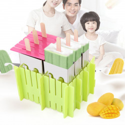 6Pcs/set Stainless Steel DIY Ice Mold Ice Lolly Ice Cream Mould Holder NEW