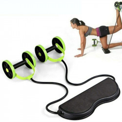 Multifunctional Home Abdominal Wheel Roller w/ Resistance Bands Muscle Training Workout Tools