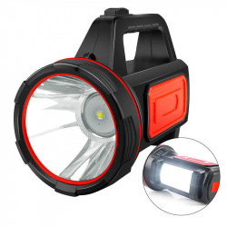 SHENYU 500m 2 Light Source USB Rechargeable Super Bright LED Spotlight 18650 Flashlight Waterproof Searchlight LED Spot Light