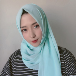 Women Scarf Hijab Chiffon Long Scarf Solid Color