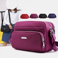 Women Nylon Waterproof Multi-Pocket Crossbody Bag Shoulder Bag For Daily Shopping