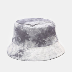 Tie-dye Ink Painting Pattern Fisherman Hat Double-sided Basin Hat Sun Hat Bucket Hat