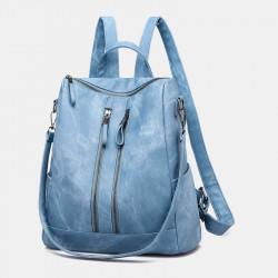 Women Anti-theft Shoulder Bag Solid Backpack