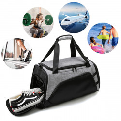 22in Large Capacity Sports Gym Bag w/ Shoes Compartment Travel Handbag Shoulder Bag  Fitness Yoga Bag