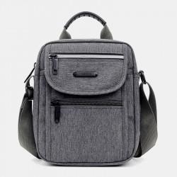 Men Light Weight Oxfords Waterproof Casual Handbag Crossbody Bag Shoulder Bag For Daily Shopping