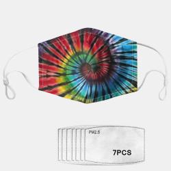 Colorful Irregular Graphic Dust Mask PM2.5 7-piece Gasket Masks