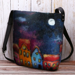 Women Colorful Bag DIY Lamb Hair Crossbody Bag Shoulder Bag