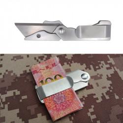AOTDDOR 13cm Practical Multifunctional Folding Blade EDC Money Clip Mini Paper Cutter