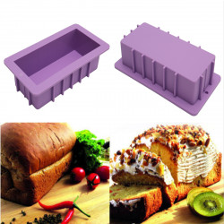 10'' Silicone Bread Loaf Cake Mold Non Stick Bakeware Baking Pan Rectangle Mould