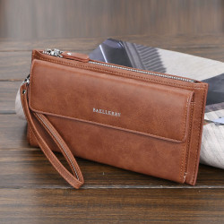 Baellerry Men Faux Leather Business Bag Clutches Bag Long Phone Bag Wallet