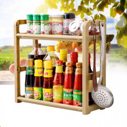 Kitchen Storage Rack Shelf Shelving Unit 2 Tier Multi-functional Shelf Standing Type Organizer
