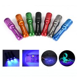 Astrolux A01 A01UV Mono-output 395nm UV Flashlight 395 High Efficiency Ultraviolet Light Black Light Fluorescence Detector Mini LED Keychain Light Blacklight
