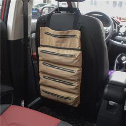 Multi-Purpose Portable Car Bag Hanging Car Organizer Seat Back Storage Container with 5 Pockets