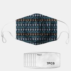 Ethnic Style Geometric Dust Mask PM2.5 7-piece Gasket
