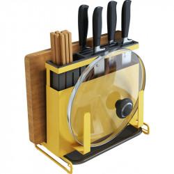 Kitchen Cutting Chopping Board Holder Pot Lid Pan Cover Storage Rack Organizer