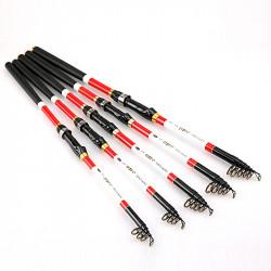 ZANLURE 2.1m/2.4m/2.7m Carbon Fiber Fishing Rod Telescopic Fishing Pole Fishing Tackle Sea Rod