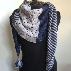 Knitted Women's Navy Scarves & Shawl