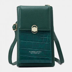 Women 8 Card Slots Alligator Phone Bag Crossbody Bag Shoulder Bag