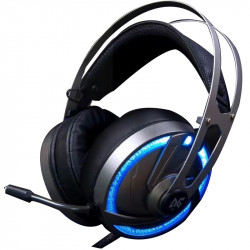 A60 USB Wired Omnidirectional Gaming Headphone LED Backlight with Microphone for Computer Profession Gamer