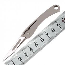 2PCS KESHUN Titanium Alloy Mini Folding Blade Utility Paper Cutter Outdoor Survival Emergency EDC Tool