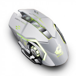 Freewolf X8 1800DPI 2.4GHz Wireless Gaming Mouse Rechargeable 7 Color LED Backlit Mute Mouse for Laptop PC