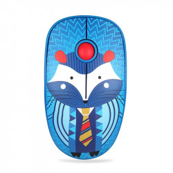 FD V8 Portable 2.4GHz Wireless Mouse Cute Cartoon Home Office Power Saving Silent Mouse 1000DPI Gaming Mouse for Windows 7 / 8 / 10 / Vista XP Mac