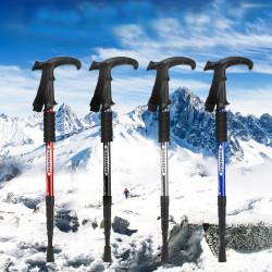 110cm Alumum Alloy Suspension Telescopic Trekking Pole Ultralight Folding Outdoor Skiing Hiking Climbing Stick