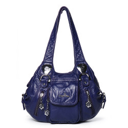 Women Casual Soft Leather Fashion Handbag Multi-Pockets Crossbody Bag