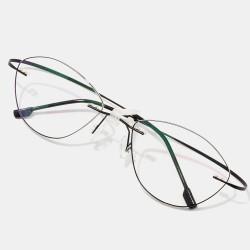 Unisex Soft Border Cat Eye Fine Border Reading Glasses