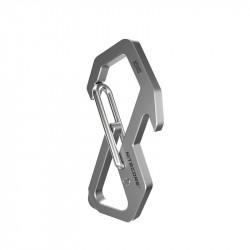 NITECORE NSH10 Titanium Alloy Keychain Portable Outdoor Hiking Climbing EDC Hanging Hook 8 Word Buckle