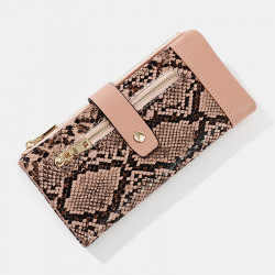 omen Solid Casual Snake Pattern Long Purse Wallet Clutches Bags