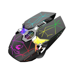 Free Wolf X13 Dual Mode Wireless Optical Mechanical Mouse 2.4GHz bluetooth Backlight 3 Gears 2400DPI Adjustable Ergonomic Rechargeable Quiet Gaming Mice