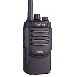 1PC ThinkYoung T888 8W Mini Ultra Thin Handheld Radio Walkie Talkie Interphone Hotel Civilian Intercom