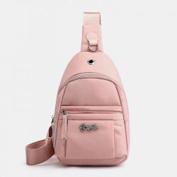 Women Nylon Waterproof Large Capacity Handbag Chest Bag Crossbody Bag