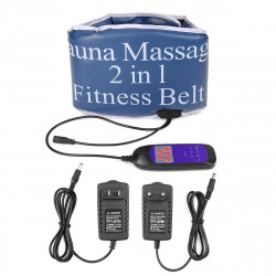 2 In 1 Sauna Massage Fitness Belt Massage Vibrating Heating Sports Belt Fitness Exercise Tools