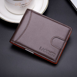 Men Genuine Leather Vintage RFID Blocking Anti-theft Cash Wallet Card Holder