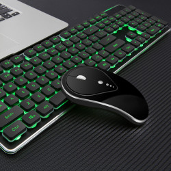 LT600 104Keys 2.4G Wireless Waterproof Rechargeable Luminous Ergonomic Gaming Keyboard and Wireless Mouse for Gaming PC Laptop