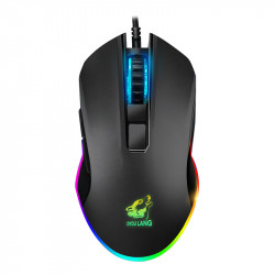 Free Wolf V1 Wired Silent Gaming Mouse 2400dpi Breathing Backlight USB Wired Gamer Mice for Desktop Computer Laptop PC